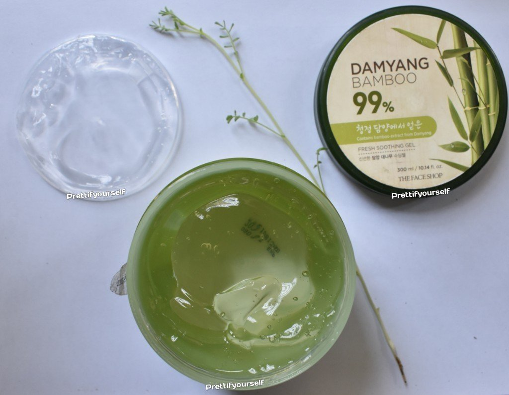 featured image of face shop bamboo gel