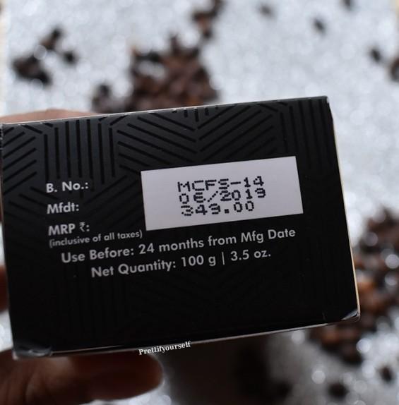 price of mcaffeine face wash