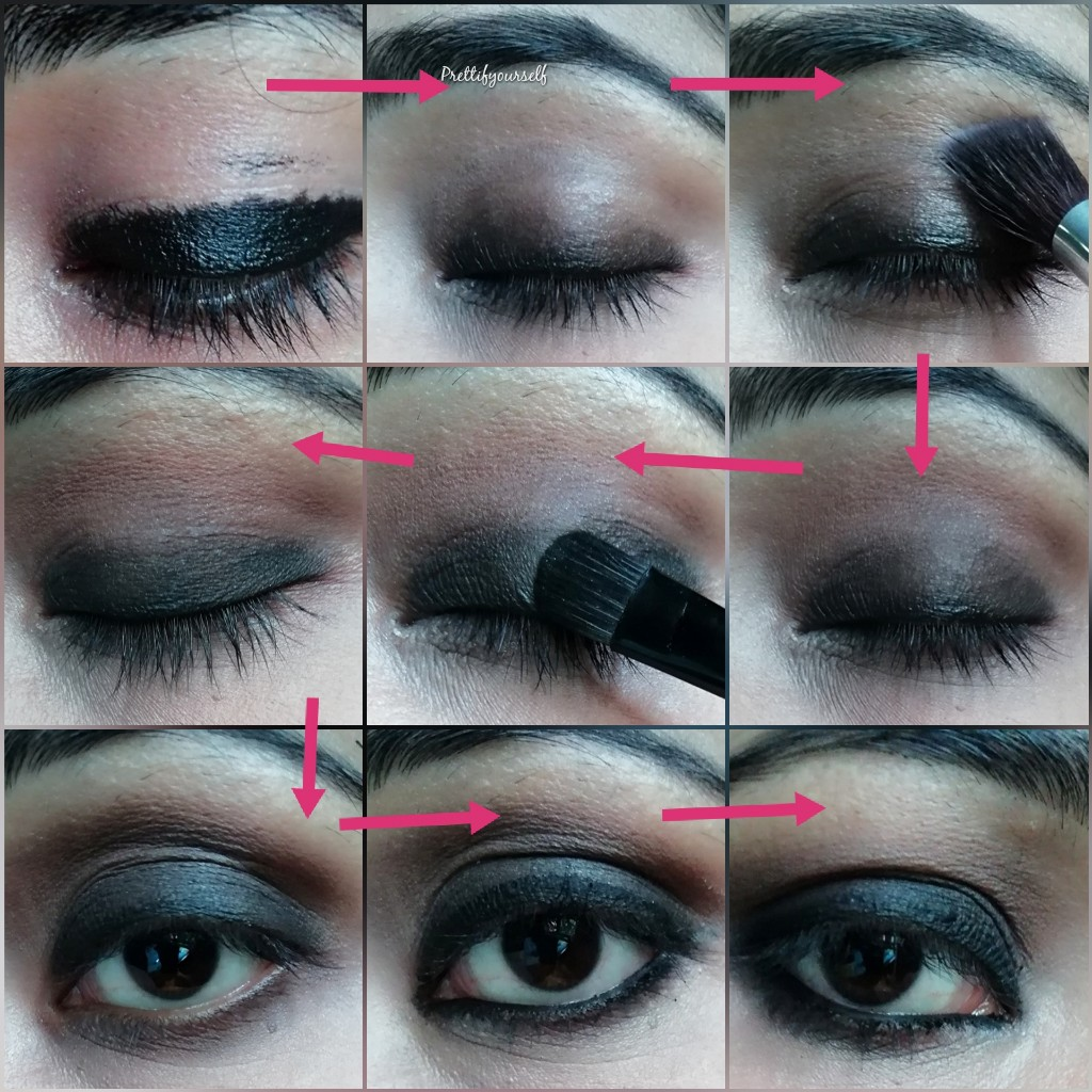 smokey eyes with kajal stepstep tutorial for beginners