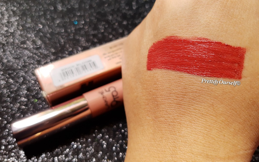 brick bloom shade of lakme 9to5 mousse lip cheek color