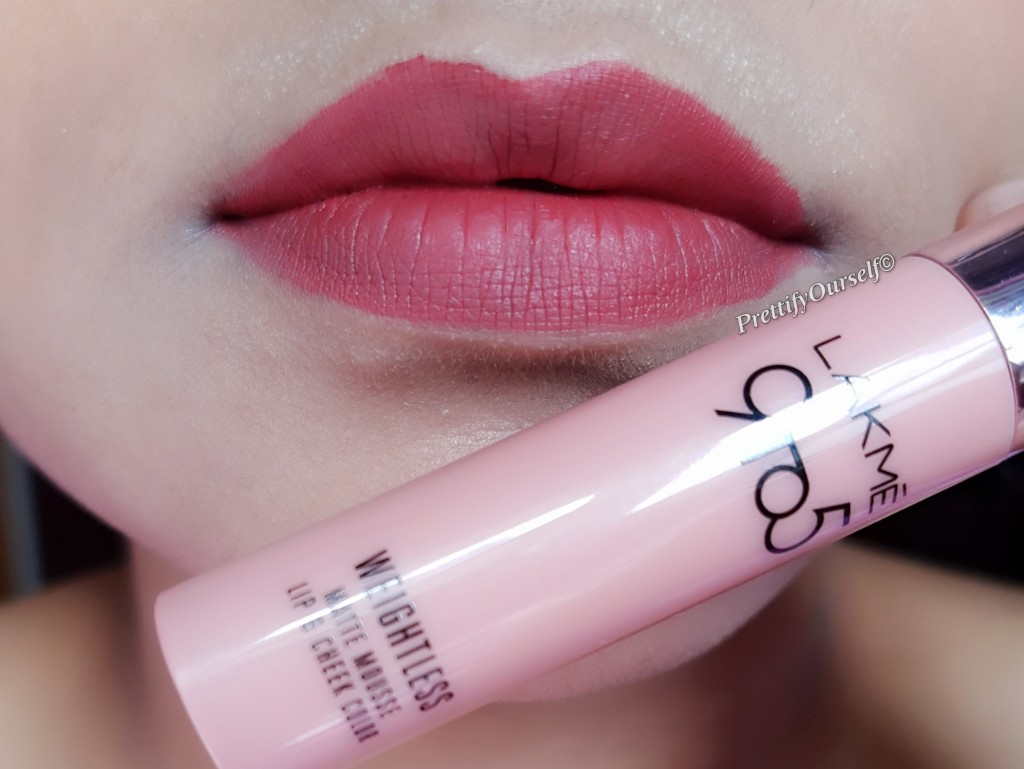 swatches of 9to5nmousse lip and cheek colour