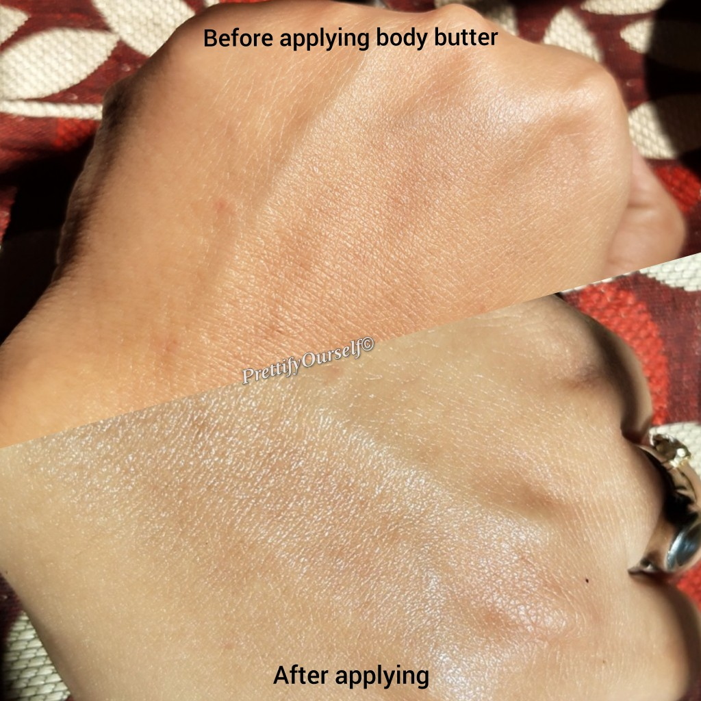 after applying body butter
