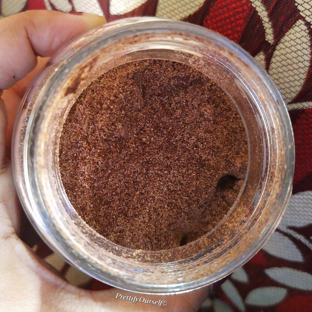 texture of body scrub