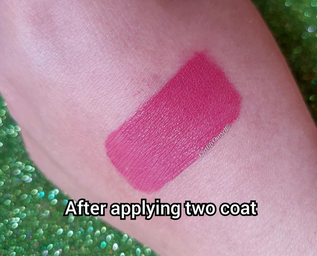 Applying two coat