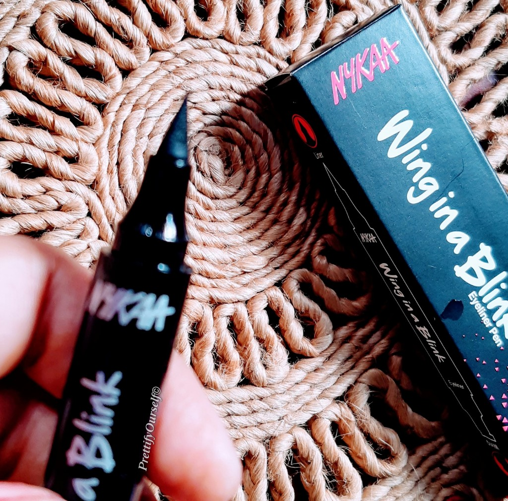Wing in a bling eyeliner pen from nykaa