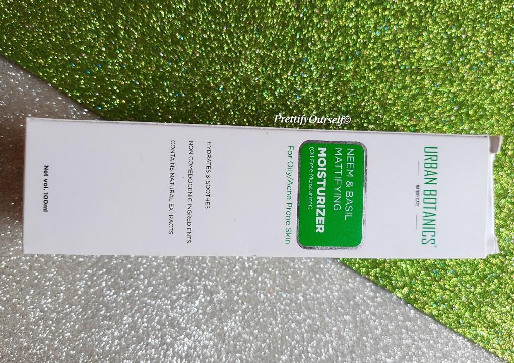 features image of urban botanics oil-free moisturizer