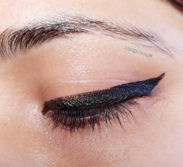 final eyeliner look