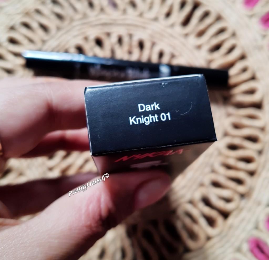 nykaa wing in a bling eyeliner pen dark night 01