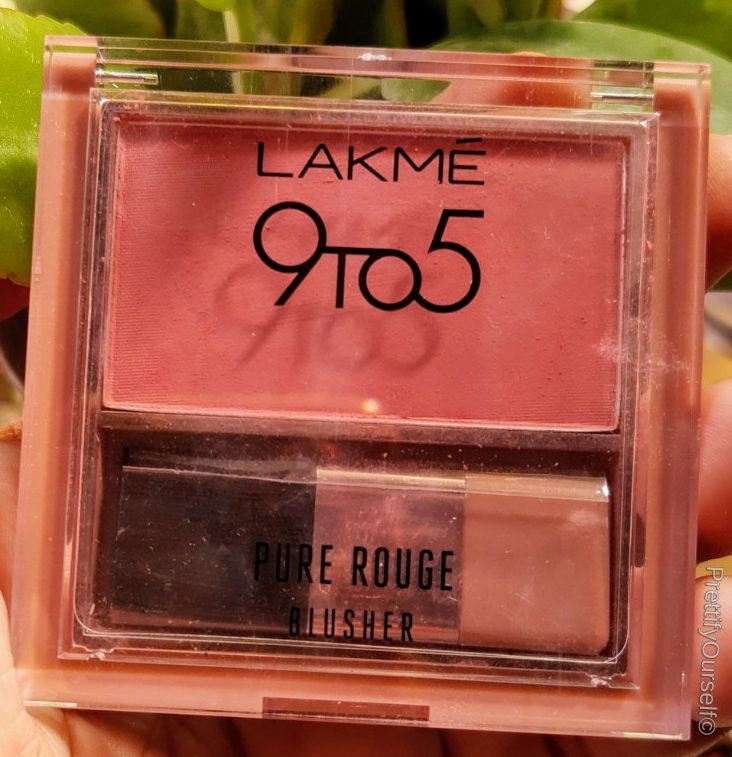 featured image of lakme 9to5 pure roge matte blusher nude flush