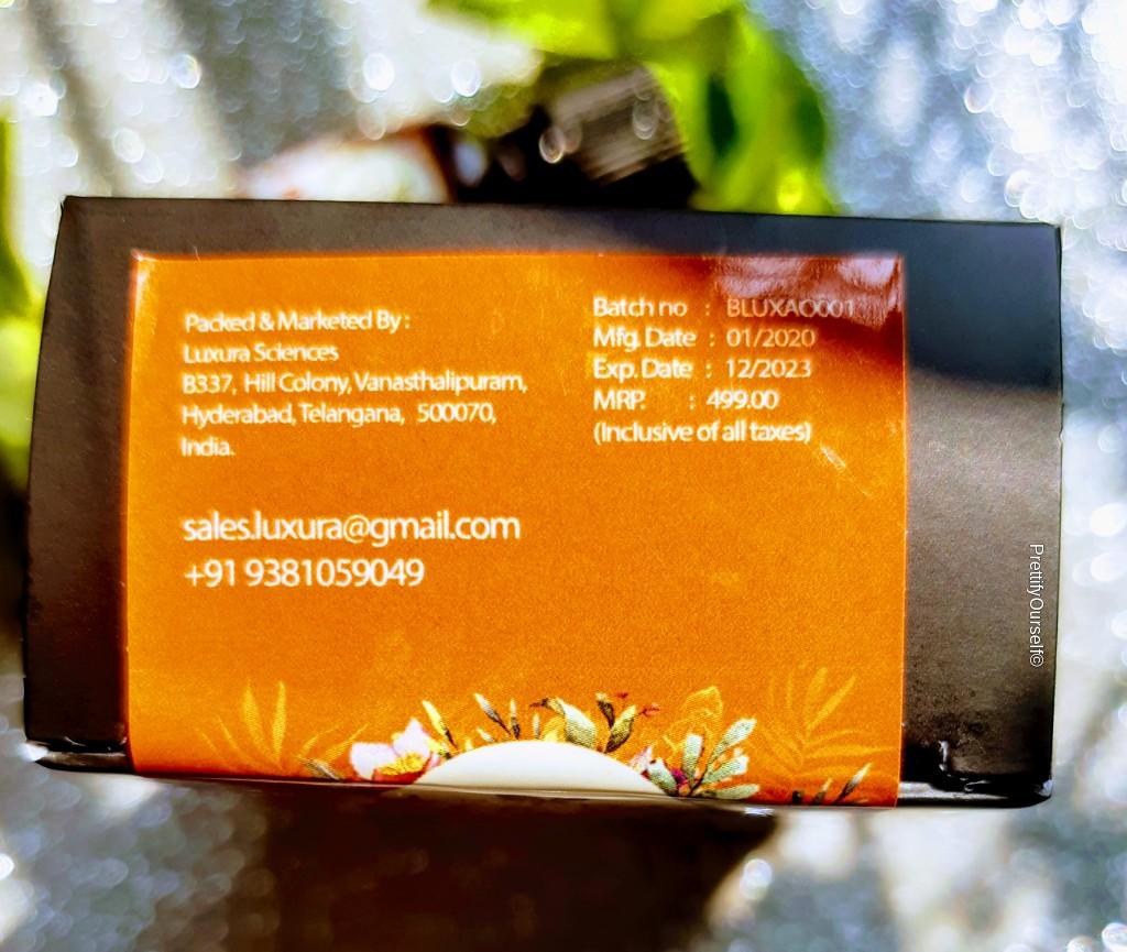 price of luxura sciences argan oil