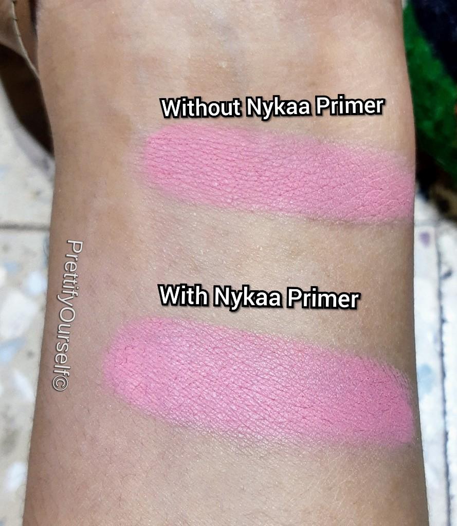 demo of nykaa makeup primer