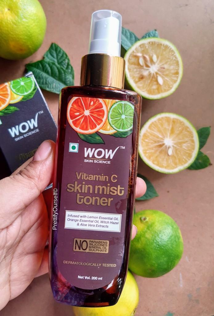 packaging of wow vitamin c mist toner