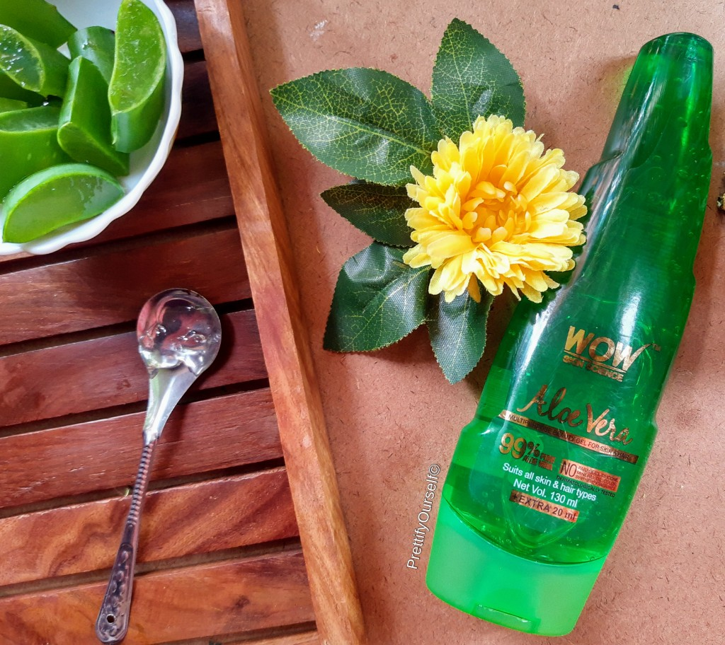 wow skin science aloe vera gel review in detail