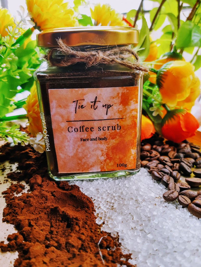 Tie It Up coffee scrub for face and body