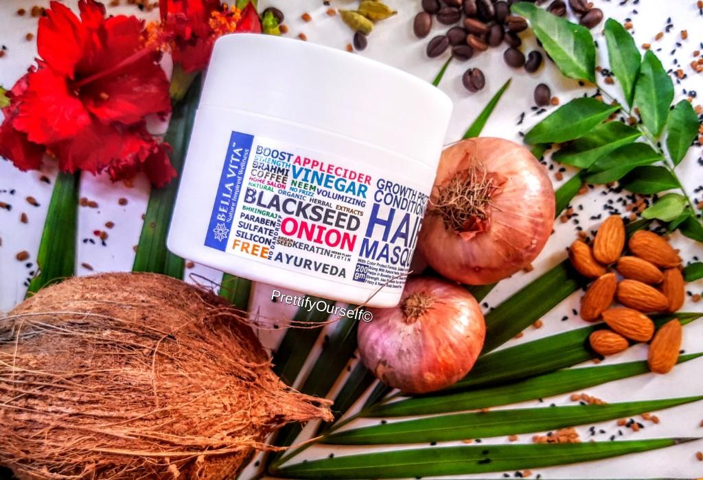bella vita organic protein hair mask for dry damaged hair