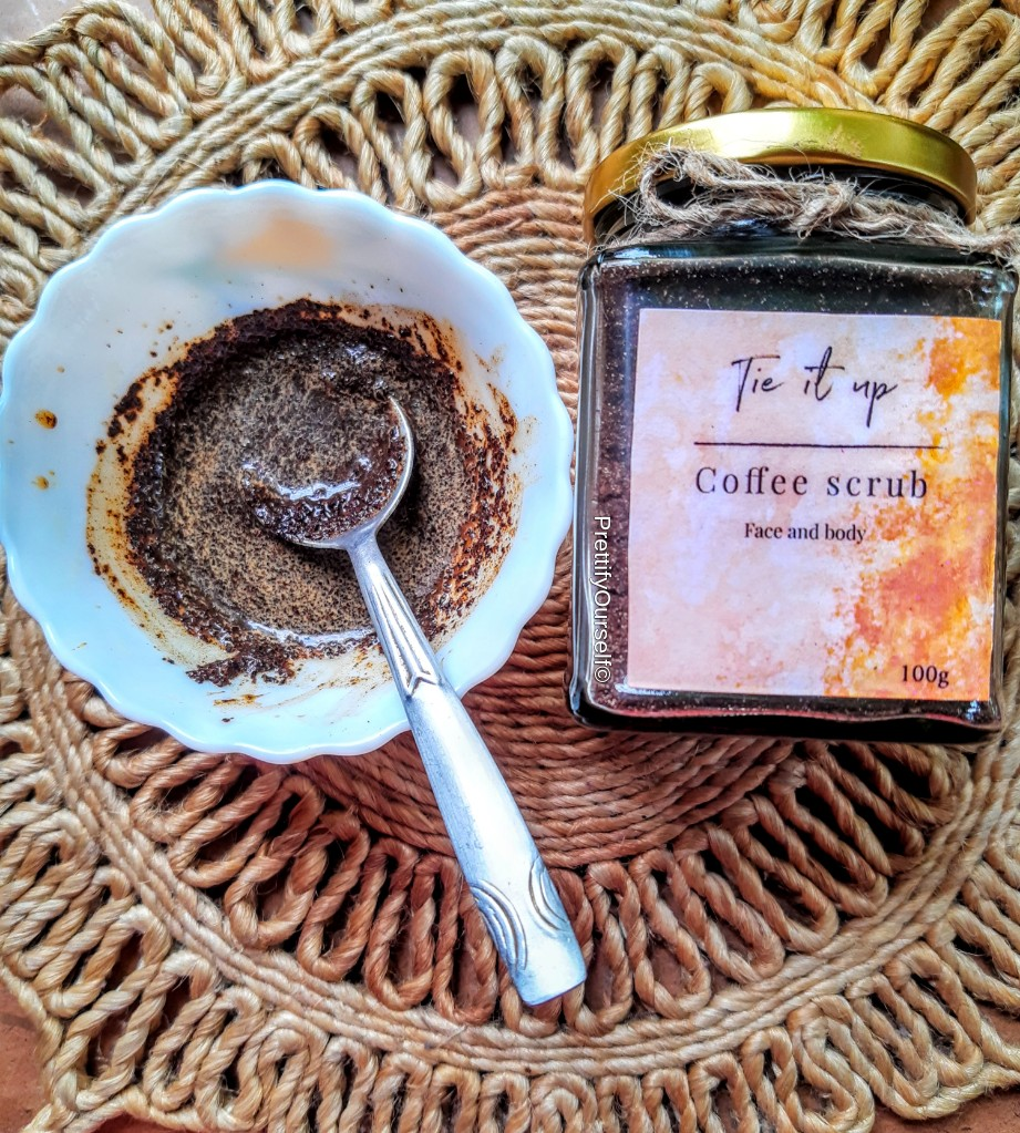 how i am use the coffee scrub for face and body