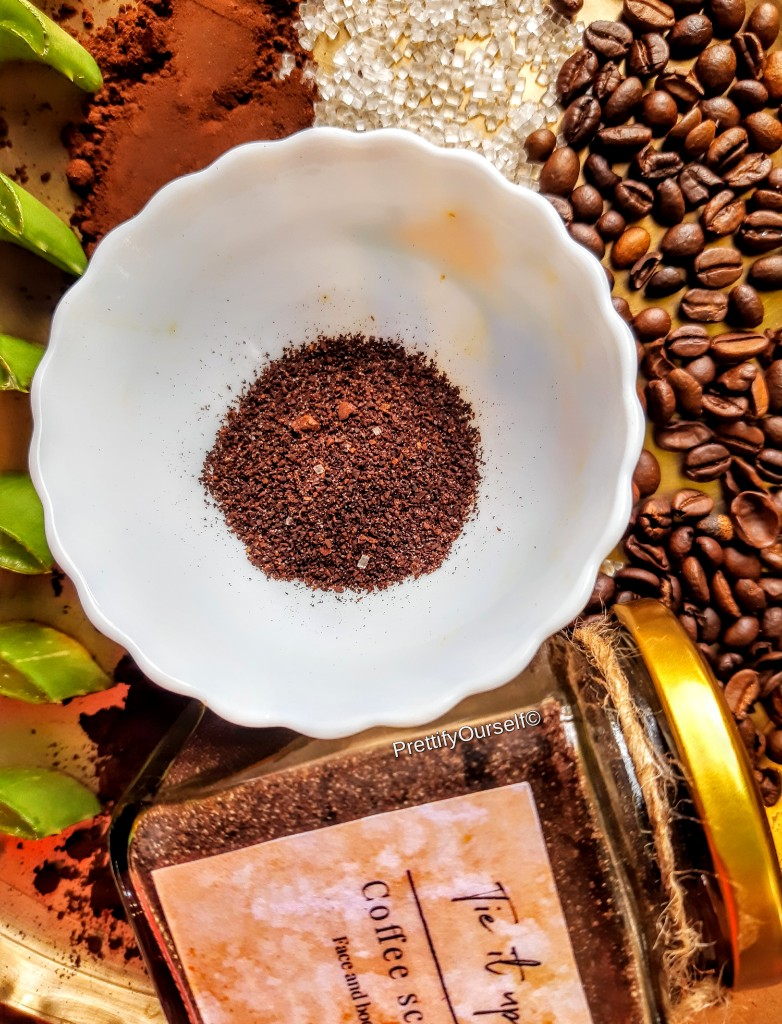 how to use coffee scrub for face and body