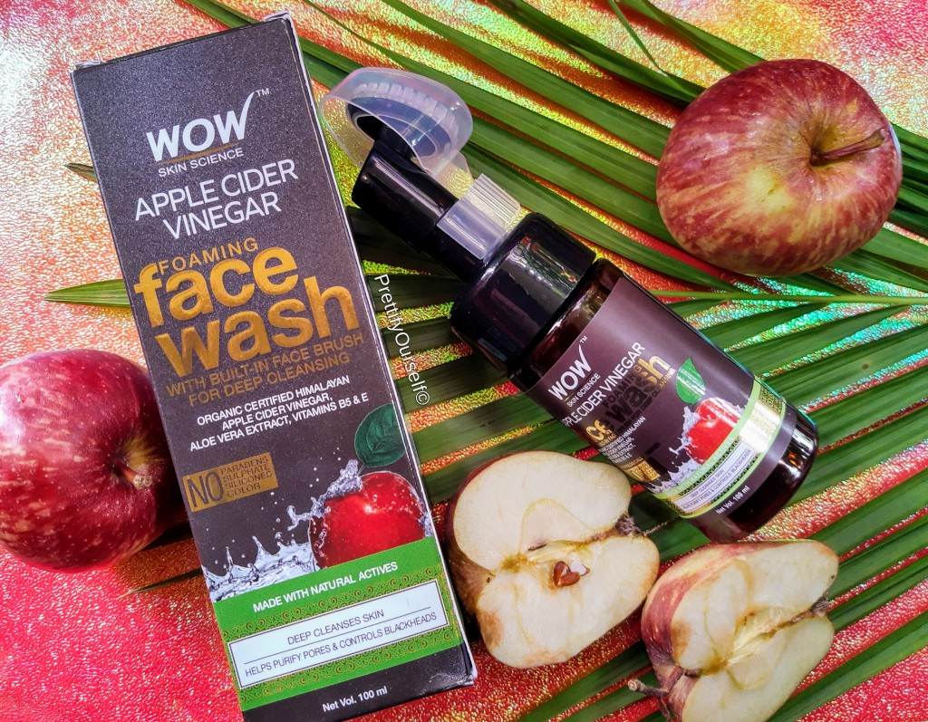 wow skin science apple cider vinegar foaming face wash review