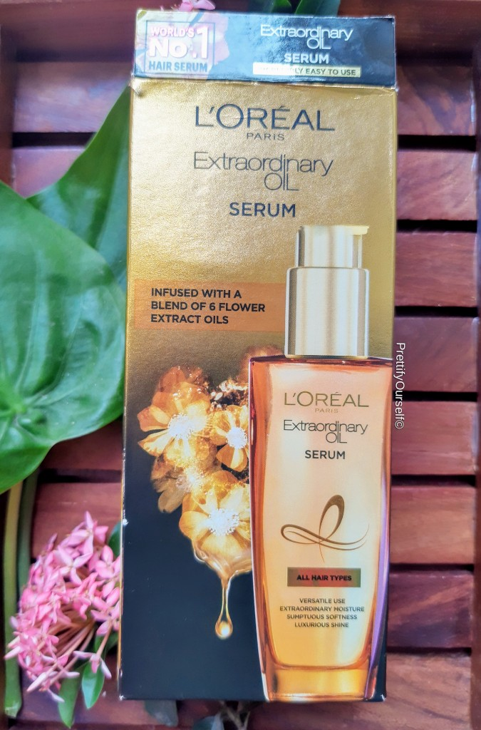 outer packaging of Loreal Extraordinary Oil Serum