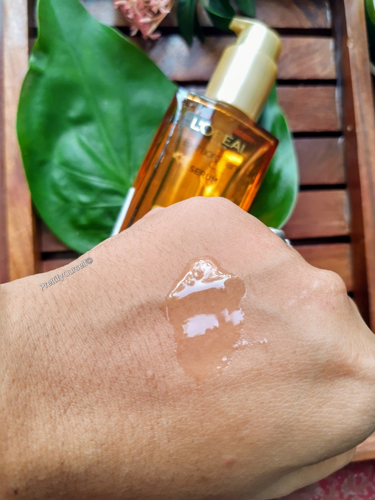 texture of Loreal Extraordinary Oil Serum