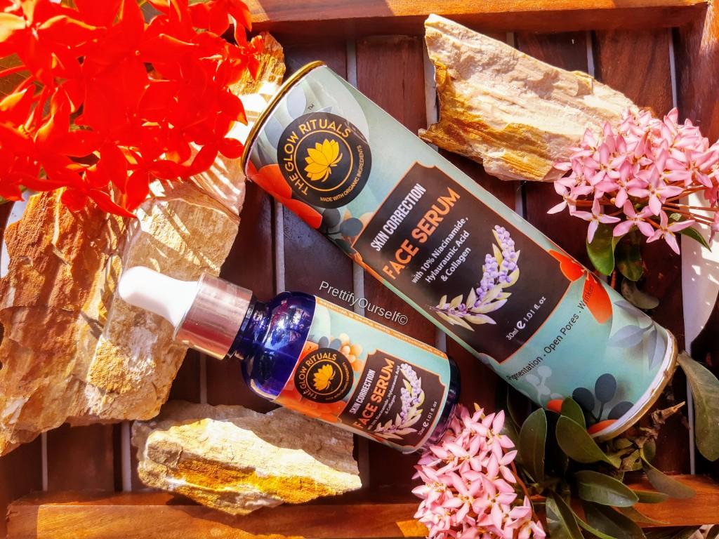 the glow rituals skin correct face serum for glowing skin