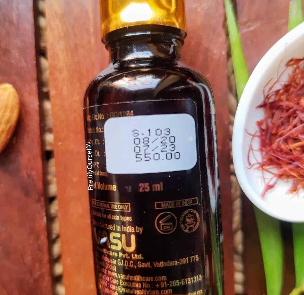 Vasu Kumkumadi Tailam price