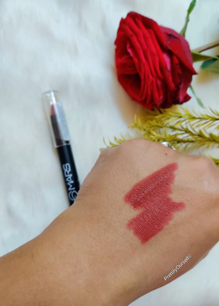 Mars cosmetics matte lip crayon swatches