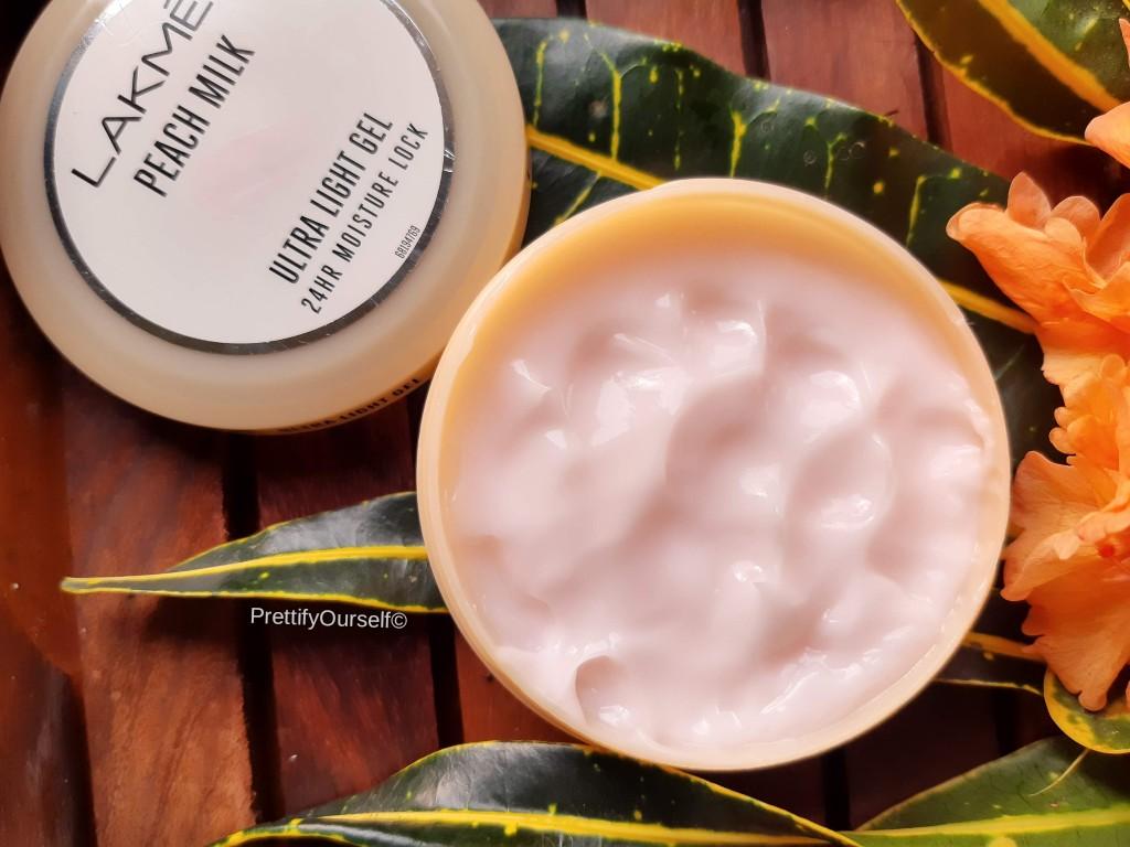 lakme peach milk ultra light gel moisturizer for combination skin