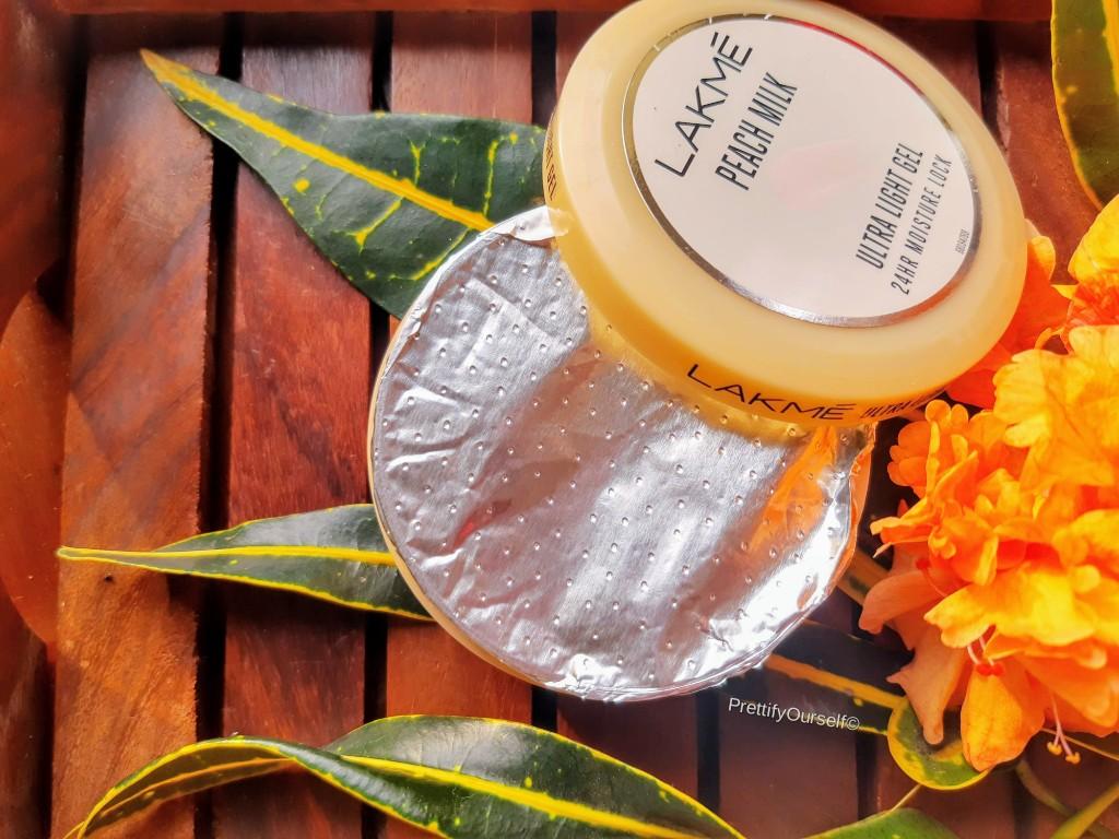 lakme peach milk ultra light gel moisturizer packaging
