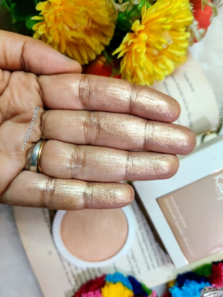 kay beauty champagne gold highlighter swatches