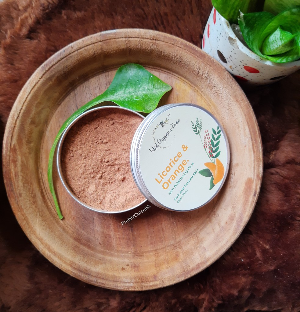 Wild Organica Home Brightening Face Pack - review