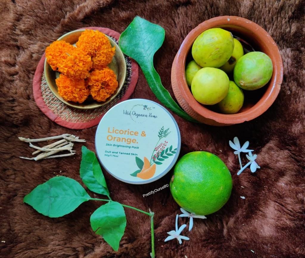 Wild Organica Home Brightening Face Pack