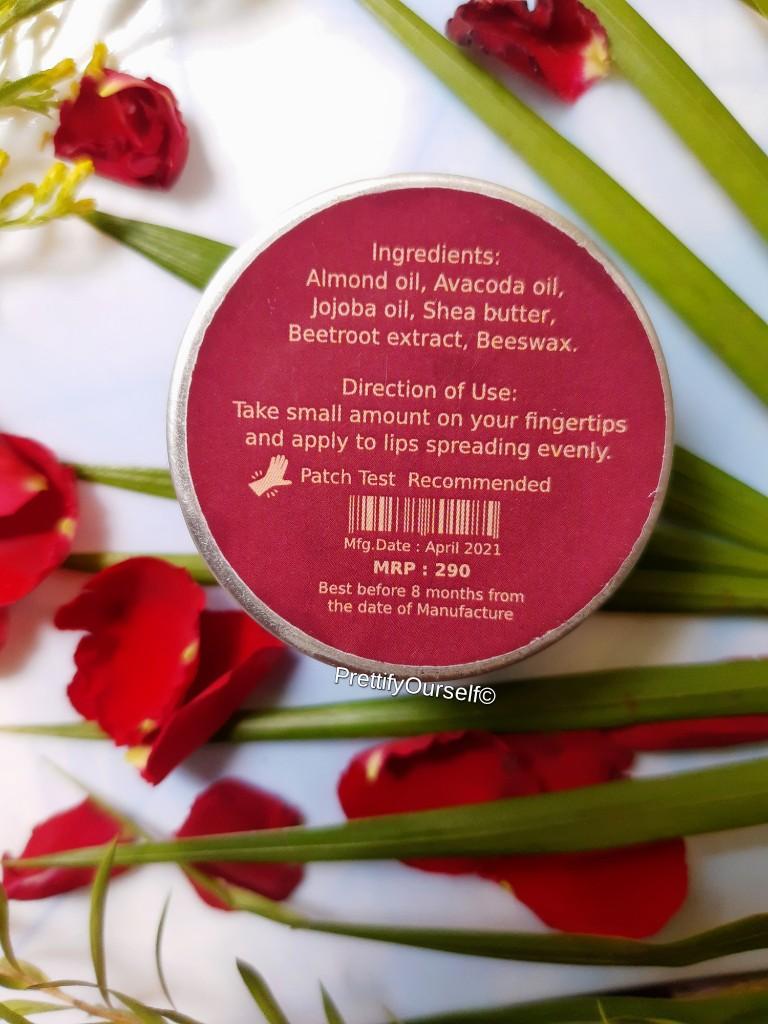 price of deyga beetroot lip balm